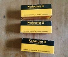 Lot of 3 original vintage Kodak Kodacolor II rolls 120 negative film NOS EX-1976