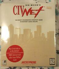 Sid MEIER'S CIVNET PC CD-ROM BIG BOX versiegelt NOS 1995 Microprose selten finden Retro