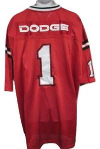 New Dodge Ram #1 Adult Mens Size 3XL 3XLarge Red Sewn Jersey