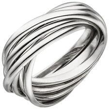 JOBO Damen Ring 52mm verschlungen 925 Sterling Silber Silberring