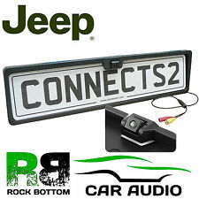 JEEP Rear View Reversing Parking Colour Camera & Car Number Plate Frame