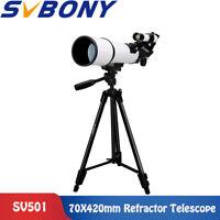 "SVBONY Refractor Telescope 70X420mm FC+49""Aluminum Alloy Photograpod tripodSV501"