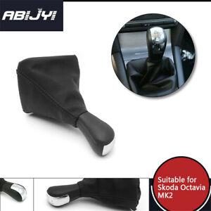 For Skoda Octavia MKII 2004-2010 Vehicle 5 Speed Gear Shift Knobs Gaiter Cover
