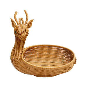 Simulation Rattan Woven Basket Animal Shape Storage Fruit Storage Display Basket