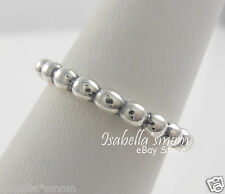 CLOUD 9 Genuine PANDORA Silver STACKABLE Bead Style Band Ring 7.5/56 NEW