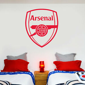 Arsenal FC One Colour Crest Wall Sticker + Arsenal Decal Set