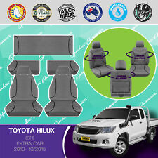 FOR TOYOTA HILUX, EXTRA CAB 2010- 10/2015 CANVAS WATERPROOF TAILORED SEAT COVERS
