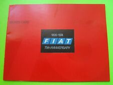 1974 FIAT SPORTS CARS DLX COLOR CATALOG Brochure X1/9 - 124 SPIDER Coupes Xlnt++