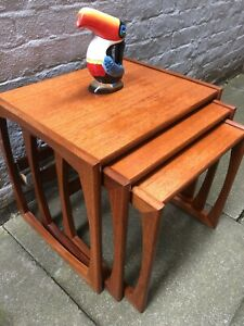 MCM Quadrille G Plan Nest of 3 Tables Interior/Furniture/Vintage/Retro/Teak