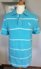 MENS ABERCROMBIE & FITCH MUSCLE TURQUOISE POLO SHIRT size S 38 Inche Chest