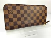 Auth LOUIS VUITTON Damier Portefeuille Insolite Wallet Browns Purse 59117008