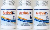 3 Bottles of Arthri D3 For a Better Quality Life Joint Pain Relief 360 Capsules!