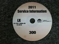 2011 Chrysler 300 Factory Shop Service Repair Manual CD Limited C 3.6L 5.7L