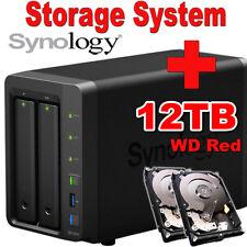 12TB--2x6TB--Synology-Disk-Station-DS718+-Netzwerkspeicher-Gigabit NAS-System