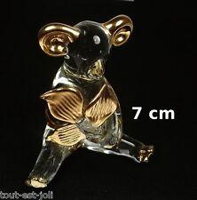 magnifique koala en verre artisanal avec dorures, collection ,animal  G13