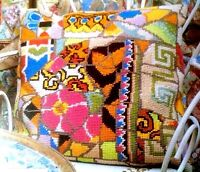 Ehrman Designr Kaffe Fassett BROKEN TILE CUSHION Tapestry Needlepoint Chart Only
