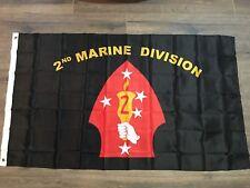 USMC Marine Marines 2nd Marine Division Premium Flag 3'x5' Banner Grommets