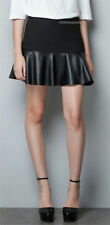 Unbranded Faux Leather Patternless Skirts for Women