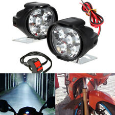 2 PCS Motorcycle LED Headlight 10W 6000K 6 LED Lamp Spotlight Driving Fog Light