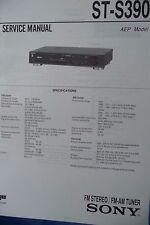 Service MANUAL per Sony st-s390 sintonizzatore, ORIGINALE!