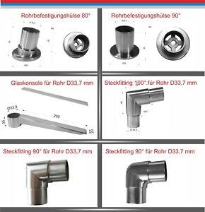 Edelstahl Rohrverbinder Glasplattenträger Steckfitting Hustenschutz Spuckschutz