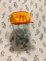 Mcdonalds 1980s NOS Hat Cap Collectible Vintage Yellow Snapback Adult Made USA 1
