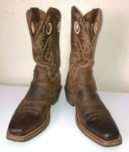 Ariat Heritage Roughstock Square Toe Western Cowboy Boots Mens 11