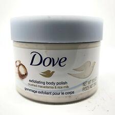 Dove Exfoliating Body Polish Body Scrub Macadamia & Rice Milk 10.5 oz - SEALED