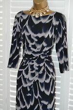 ~ LAURA ASHLEY ~ Beautiful Ruched Stretch Dress Size 14