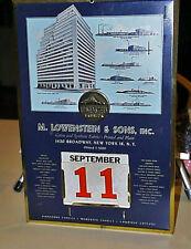 Outstanding Mid-Century LOWENSTEIN & SONS Advertising Perpetual Wall Calendar