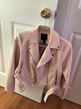 Forever 21 Blush Motorcycle Jacket Light Pale Pink Moto Jacket Size Small