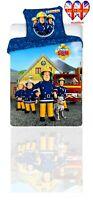 Kids Duvet Set Fireman Sam,TODDLER Bed Duvet Cover Set Official Licensed