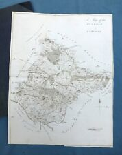 KENT, 1797 - ANTIQUE MAP of The Hundred of EYHORNE + LEEDS / HEADCORN - HASTED.