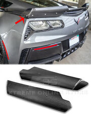 Fits 14-Up Corvette C7 Z06 Factory Rear Spoiler Wing CARBON FIBER Side Winglets