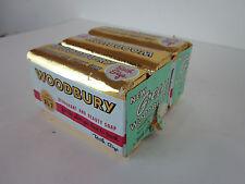 3 bars Vintage Woodbury Bath Soap advertising toiletries scented deodorant retro