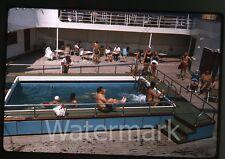 1964 kodachrome photo slide Aboard Ship MS Gripsholm Swedish American Line #2