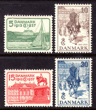 DENMARK #258-261, 1937 SET/4, VF, OG-NH