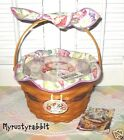 Longaberger 2000 Morning Glory Basket Set & Reflections Booklet ~ May Collection