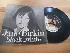 """7"""" Chanson Jane Birkin - Black .. White (2 Song) DESK & FIELD / COMMERCIAL RELEA"""