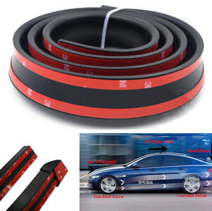 4.9ft Black Rubber Spoiler Strip for Racing Car Roof Hatch Gate Trunk Universal