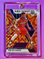 Zion Williamson RARE ORANGE REACTIVE PANINI MOSAIC PRIZM 2019-20 HOT RC - Mint!
