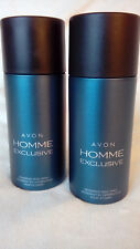 AVON HOMME EXCLUSIVE FOR HIM DEODORANT BODY SPRAY 150ml x 2 *BRAND NEW*
