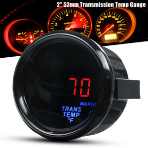 "2"" 52mm Electronic Transmission Trans Temp Gauge Kit Digital LED & 1/8NPT Sensor"