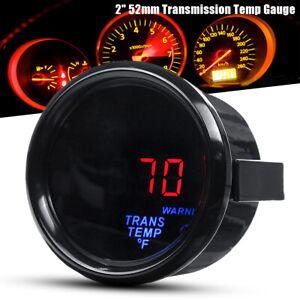 "2"" 52mm Electronic Transmission Trans Temp Gauge Kit Digital LED & 1/8NPT Sensor"