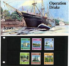 JERSEY PRESENTATION PACK 1980 OPERATION DRAKE MNH SG 238-243