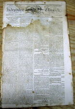 <1805 newspaper THOMAS JEFFERSON signs INDIAN TREATY w Fox Sac & DELAWARE TRIBES