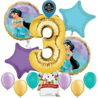 Disney Princess Jasmine Party Supplies Balloon Decoration Bundle 3rd Birthday