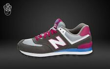New Balance Womens 574 Classic Trainers Grey Pink - UK 5.5