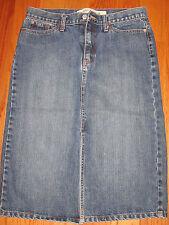 Long Dark Blue Gap Jean Denim Skirt size 8  Straight Pencil slit split Womens