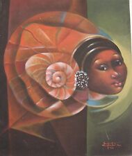 Beautiful 20 X 24 painting by Haitian Artist Fontaine